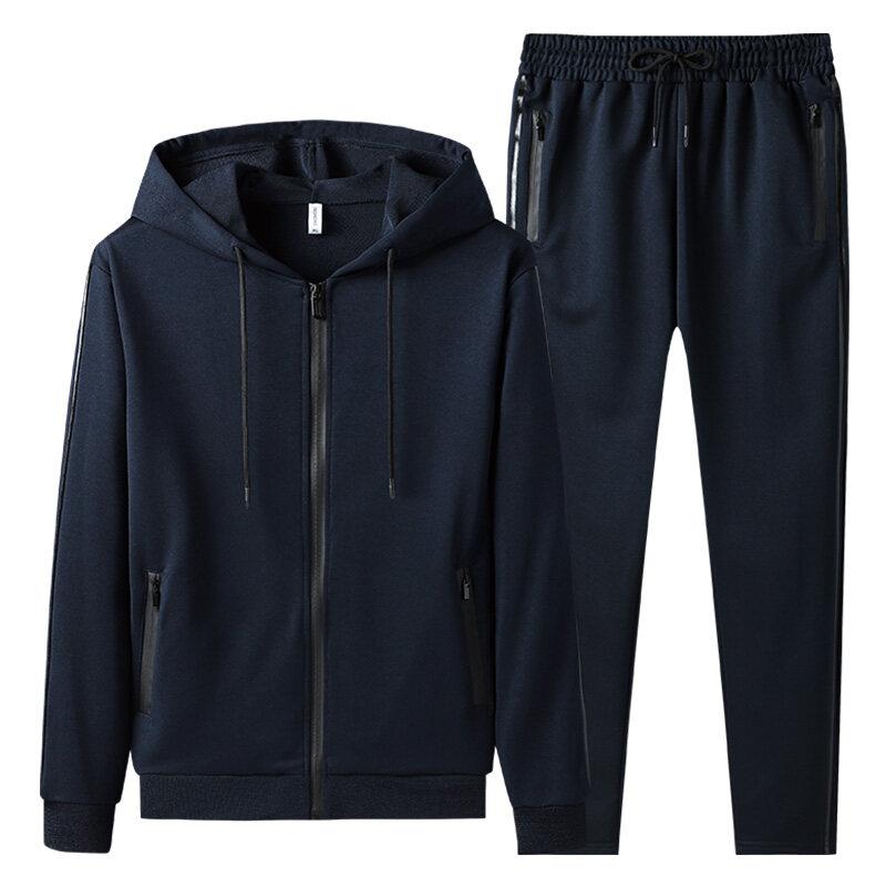 1881衣朕殿厂家-新款秋季套装男士休闲运动套装男士连帽开衫两件套