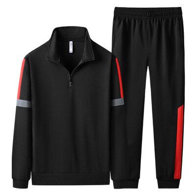 衣朕殿厂家-新款秋季套装男士休闲运动套装男士开衫翻领两件套