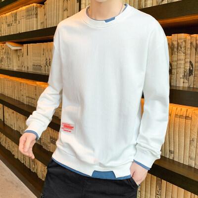 男士长袖t恤卫衣男款韩版修身ins圆领 单裤 套装