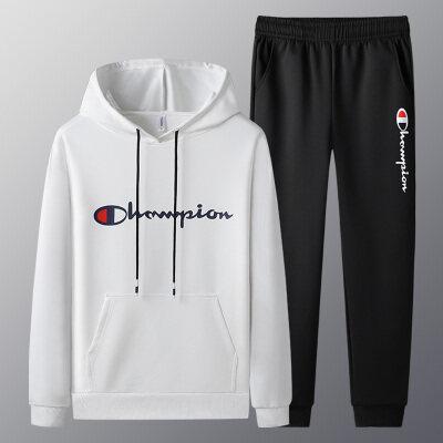 2020年春秋季新款冠军男士休闲运动套装青少年两件套帽衫