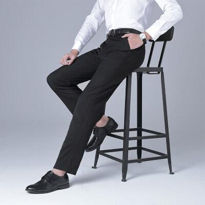 商务休闲裤男2020秋冬季新款商务修身西裤男免烫休闲长裤子