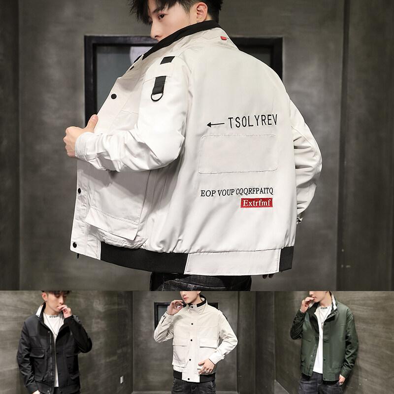 外套男士2020新款秋季韩版潮流春秋潮春装衣服工装男装夹克男
