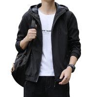 新款春季秋季男士夹克外套上衣帽衫休闲大码--有花花公子刺绣版