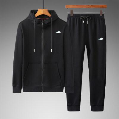 2020春季运动套装男春秋立领薄款棉两件套中老年休闲套装长袖