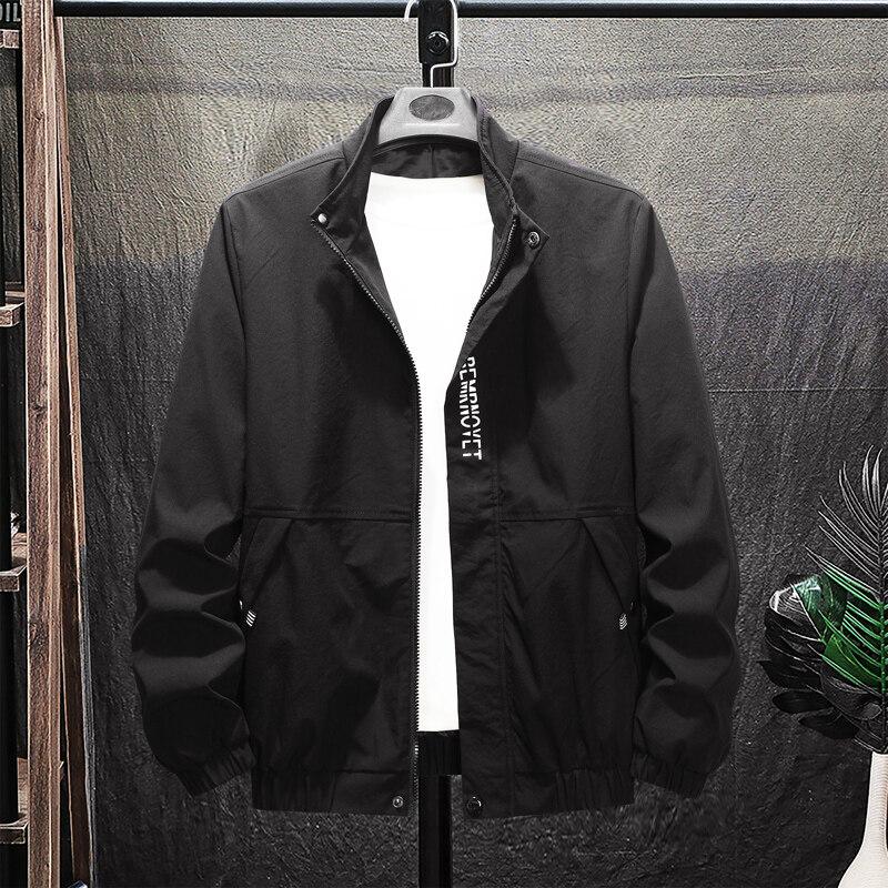 男士冬季外套2020新款春秋连帽休闲修身运动工装秋冬夹克