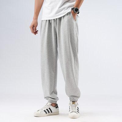 凯勒布20新款宽松纯色休闲裤大码港风束脚裤