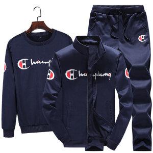卫衣套装秋冬季男士2020冠军开衫三件套运动服装休闲潮流款