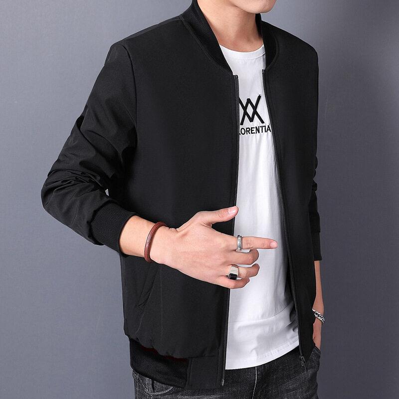 男士外套2020新款秋冬季夹克男休闲套装韩版潮流修身帅气一套衣服