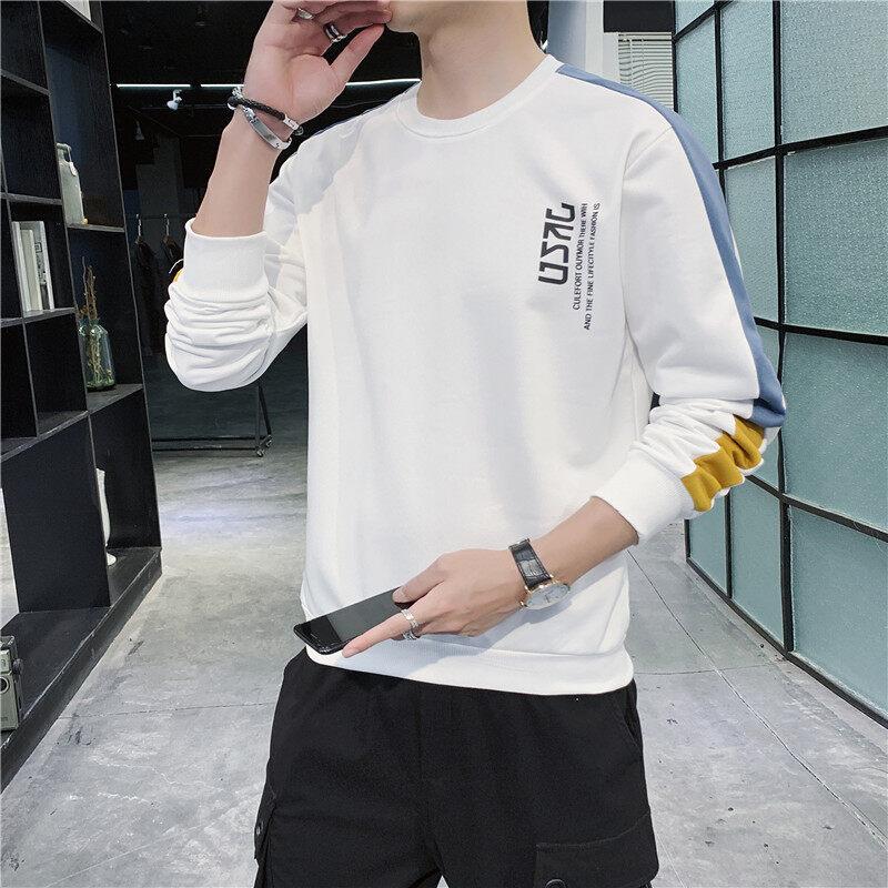 6772卫衣2020新款秋冬男士卫衣潮版青少年圆领上衣学生打底衫外套