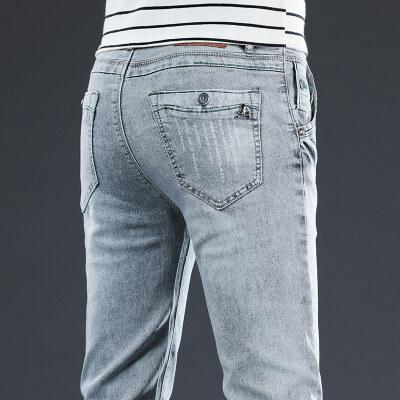 男装牛仔裤2020秋冬时尚弹力紧身显高显瘦小脚长裤