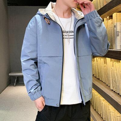 男士外套2020新款潮流秋韩版帅气运动上衣青年ins夹克休闲