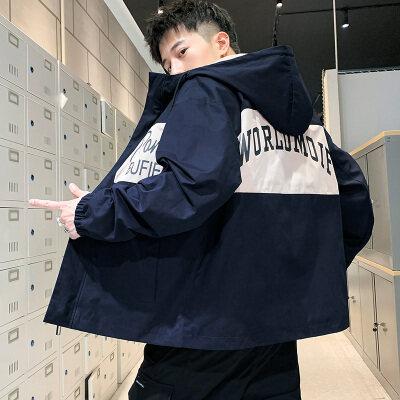 男士外套2020秋季新款连帽韩版潮流春季夹克男工装帅气休闲男