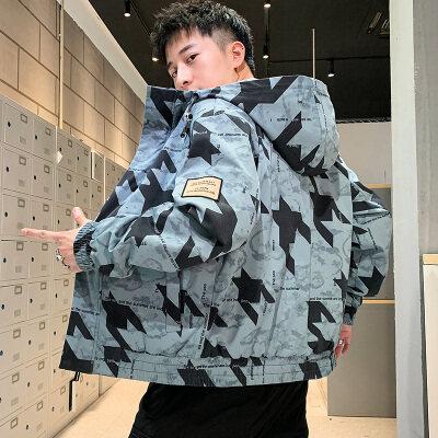 男士外套2020新款秋季韩版潮流机能上衣服工装夹克