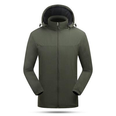 2020休闲夹克纯色修身四面弹单衣防风防水团购外套男钓鱼服