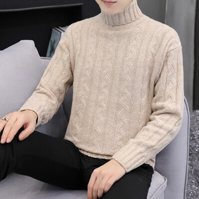 秋季新款男士高领毛衣