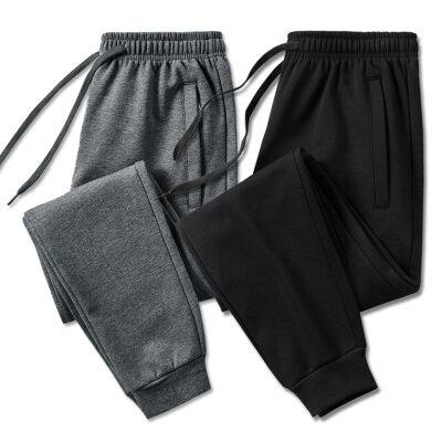 2021春季新款纯棉口袋拉链平脚束脚休闲运动裤男M-8XL