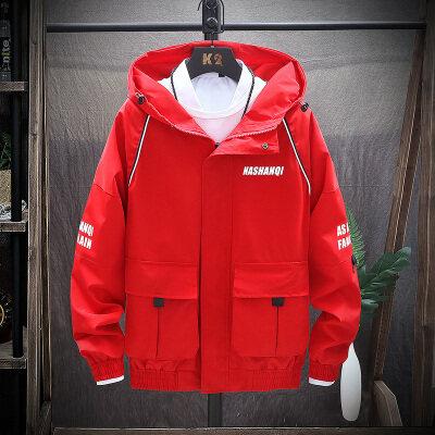 25001新款外套秋冬季韩版潮流新款工装夹克男修身帅气棒球