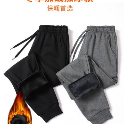 2020新款纯棉休闲运动裤男加绒纯棉休闲运动裤M-4XL