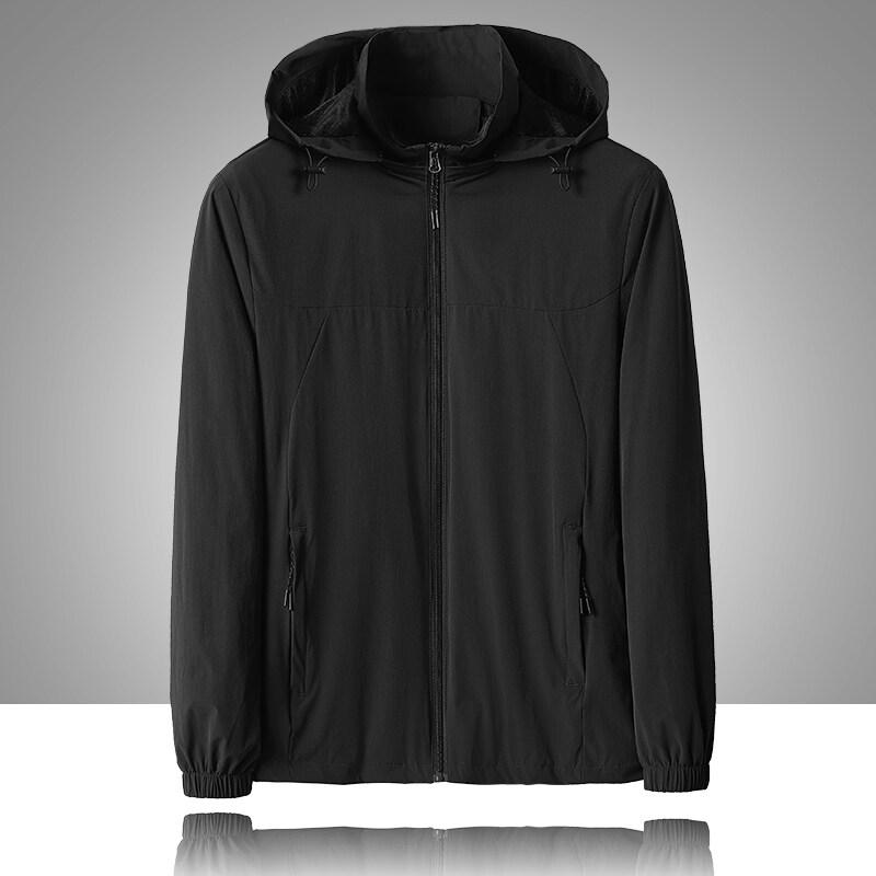 8808秋季新款男式夹克四面弹防风防水连帽舒适外套户外运动夹克男