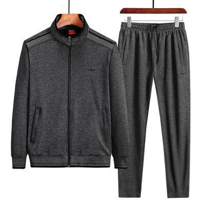 运动休闲2021新款棉质套装男秋冬两件套休闲套装L-5XL