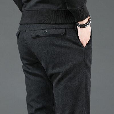 一件代发秋冬款时尚潮流百搭休闲裤男青年修身小脚裤子韩版潮男裤