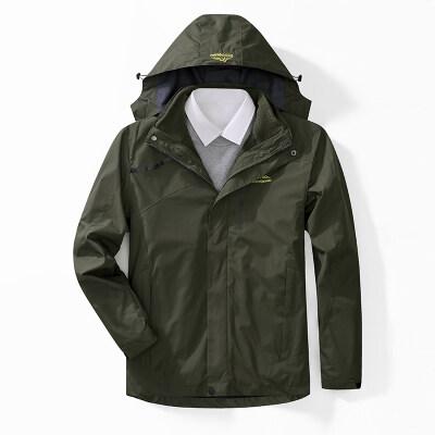 冲锋衣三合一两件套户外抓绒衣透气登山服女男款户外保暖外套加厚