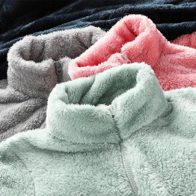 户外抓绒衣男女外套珊瑚绒摇粒绒情侣保暖泰泰迪绒加厚冲锋衣内胆