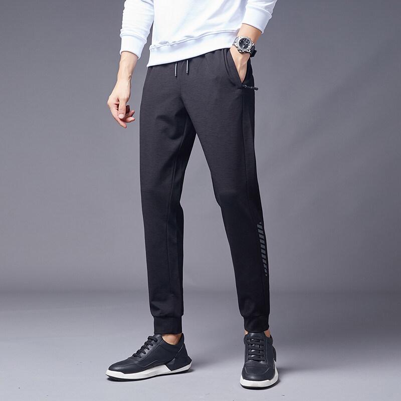 9388九分裤男运动休闲纯棉束脚裤青少年男士小脚