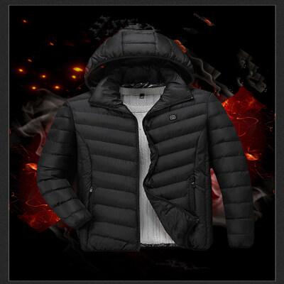 冬季保暖长袖可脱卸帽电热棉衣外套青年保暖USB自热恒温可控温