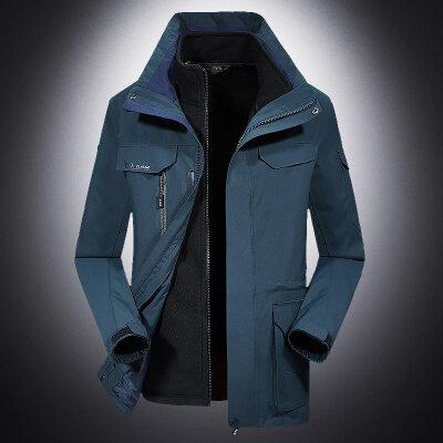 羽绒内胆两件套三合一情侣冲锋衣户外运动防风防水保暖外套男女
