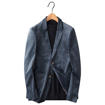 白底图 秋装西服男士修身韩版帅气单西金丝绒便西X25-p190控价290