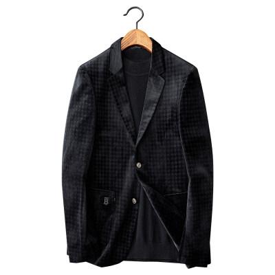 白底图 男士修身韩版帅气单西 灯芯绒印花便西X23p215控价315
