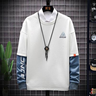 男士长袖2020秋季潮流男式长袖韩版休闲宽松型潮牌长袖男式
