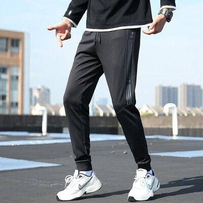 休闲裤男春秋季运动卫裤九分秋装潮流束脚工装裤子宽松直筒