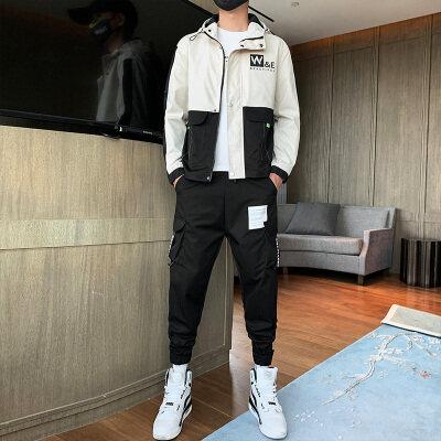 2020新款秋季男装套装休闲运动套装