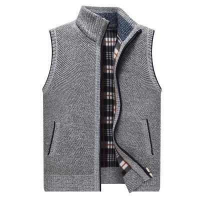 2020秋季新款羊毛衫男开衫无袖版修身帅气青年休闲针织毛衣