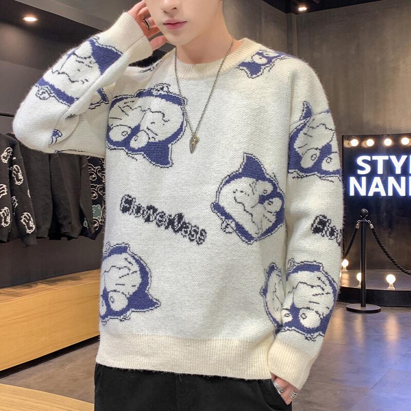22036款毛衣男士春秋季新款韩版潮流学生个性秋衣男装打底毛线衫