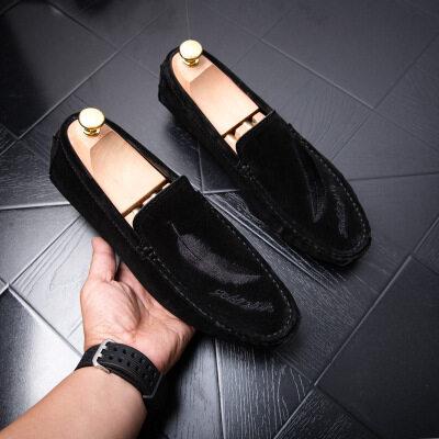 春季豆豆鞋男鞋真皮韩版 皮鞋码 37-45