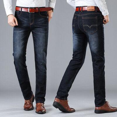 夏季新款男式直筒牛仔裤时尚青年韩版男士修身型百搭裤子潮流