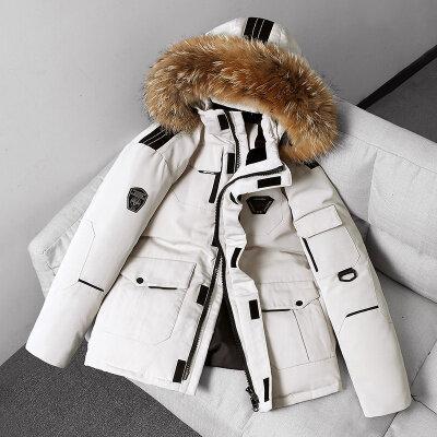跑男同款羽绒服男2020冬季新款韩版时尚潮牌中长款夹克外套男