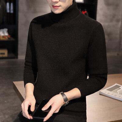 2020秋季新款羊毛衫男圆领韩版修身帅气青年休闲针织毛衣