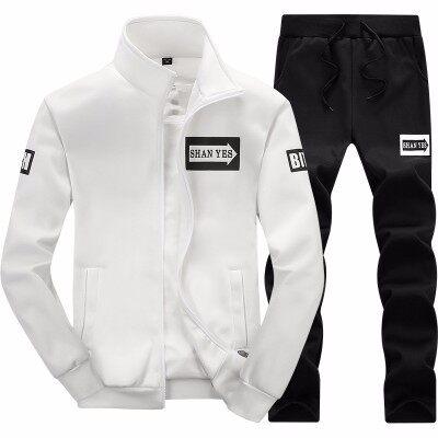 男士秋冬装两件套潮流开衫卫衣休闲运动套装男全套青少年上衣裤