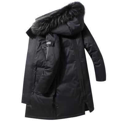2020新款冬季羽绒服男大毛领中长款过膝加厚保暖防寒潮流外套