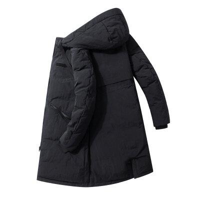 2020连帽羽绒服男中长款男士休闲修身加厚帅气潮流保暖外套