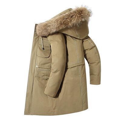 2020新款羽绒服男中长款韩版潮流宽松连帽外套男时尚保暖大衣