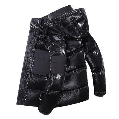 2020新款羽绒服男士短款时尚潮牌连帽外套加厚防寒保暖外衣潮