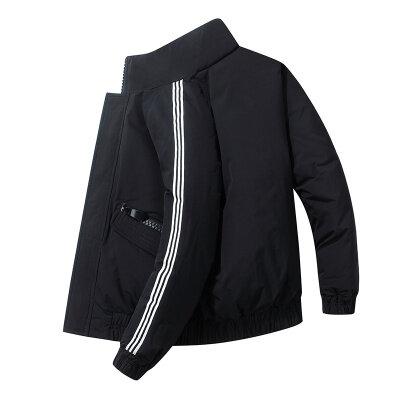 2020新款冬装潮牌宽松白鸭绒羽绒服男士短款帅气加厚保暖外套
