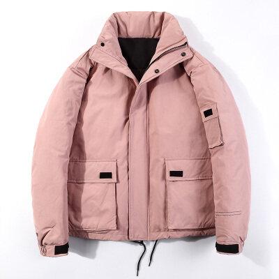 2020新款潮牌宽时尚松帅气立领外套羽绒服男短款加厚保暖大衣