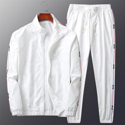 休闲运动套装男春秋季2020新款韩版潮流帅气百搭长袖衣服男两