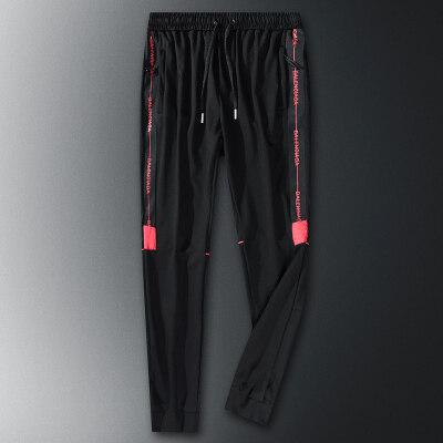 20秋冬季棉运动裤男士休闲长裤子男宽松直筒针织裤弹力卫裤男